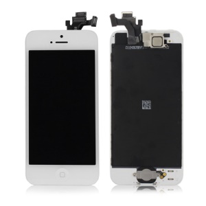 For iPhone 5 LCD Assembly w/ Touch Screen + Digitizer Frame + Front Camera + Home Button + Home Button Holder - White