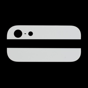 Top and Bottom Glass Cover Replacement for iPhone 5 Back Housing (OEM) - White