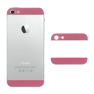Glass Top and Bottom Cover Replacement for iPhone 5 Back Housing - Pink