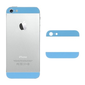 Glass Top and Bottom Cover Replacement for iPhone 5 Back Housing - Baby Blue