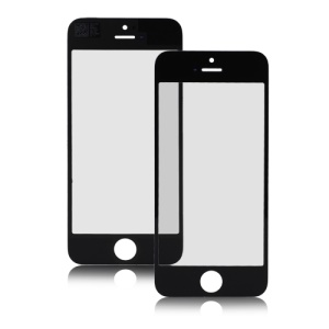 Front Screen Outer Glass Lens Replacement Part for iPhone 5 - Black