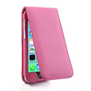 Rose for iPhone 5c Vertical Magnetic Leather Cover w/ Card Slot