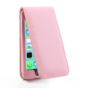 Pink Vertical Magnetic Leather Case for iPhone 5c w/ Card Slot
