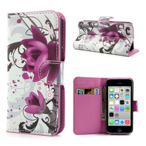 Beautiful Lotus Flower for iPhone 5c Wallet Leather Skin Case