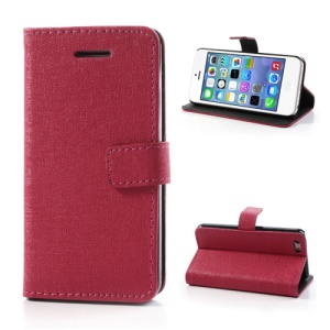 Rose Oracle Textured Leather Flip Card Holder Case Cover for iPhone 5C