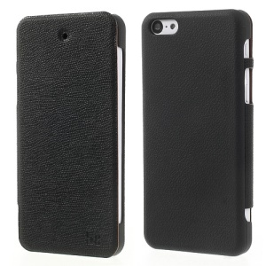 Black Zozzle Slim Side Flip Protective Leather Case Cover for iPhone 5c