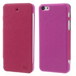 Rose Zozzle for iPhone 5c Slim Side Flip Protective Leather Cover