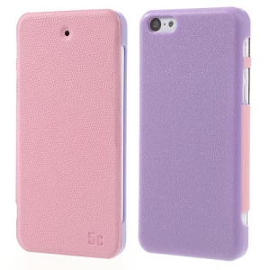 Pink Zozzle for iPhone 5c Slim Side Flip Protective Leather Skin Cover