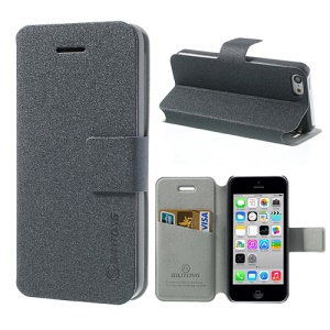 Grey BILITONG for iPhone 5c Magnetic Fashion Card Wallet Leather Case