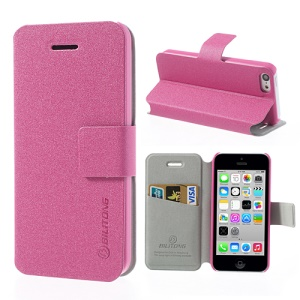 Rose BILITONG for iPhone 5c Magnetic Fashion Card Wallet Leather Case Stand