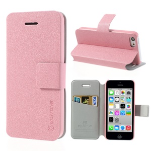 Pink BILITONG for iPhone 5c Magnetic Fashion Card Wallet Leather Cover Stand