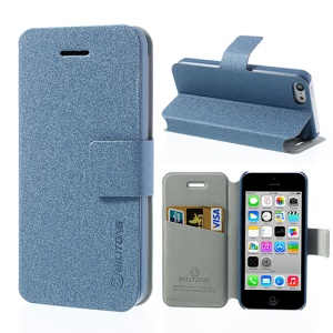 Dark Blue BILITONG for iPhone 5c Magnetic Fashion Flip Leather Shell w/ Card Slot & Stand
