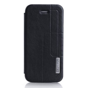 MOTOMO Folio PU Leather Case with Stand for iPhone 5c - Black