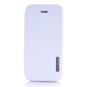 MOTOMO Folio Stand Leather Case Accessory for iPhone 5c - White