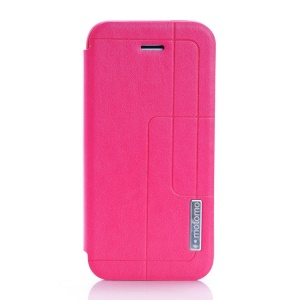 MOTOMO Folio Stand PU Leather Cover Case for iPhone 5c - Magenta