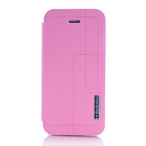 MOTOMO Folio Stand PU Leather Skin Case for iPhone 5c - Pink