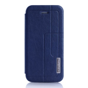 MOTOMO Protective PU Leather Stand Case for iPhone 5c - Deep Blue