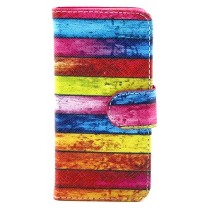 Colorful Board Magnetic Leather Stand Case for iPhone 5c