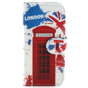 London Telephone Box Magnetic Leather Case w/ Stand for iPhone 5c