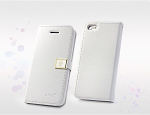 White Deere Ailun Silm Wallet Leather Flip Case for iPhone 5c