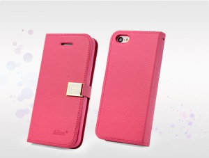 Rose Deere Ailun Silm Wallet Leather Flip Case for iPhone 5c