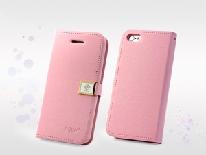 Pink Deere Ailun Silm Card Slot Leather Case for iPhone 5c