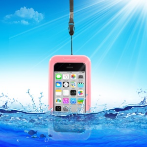 Premium for iPhone 5c 4S 4 Waterproof Dirt Snow Proof Case + Neck Strap - Pink