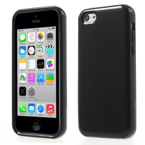Glossy TPU & PC Frame Combo Cover for iPhone 5c - Black