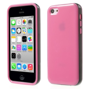 Glossy TPU & PC Frame Combo Cover for iPhone 5c - Rose