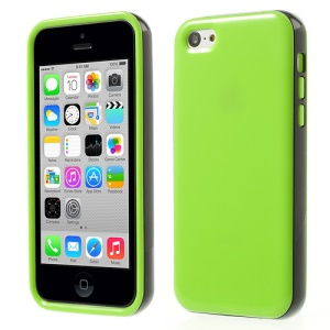 Glossy TPU & PC Frame Combo Shell Case for iPhone 5c - Green