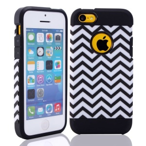 2 in 1 Wave Pattern PC & TPU Hybrid Cover for iPhone 5c