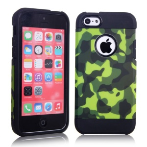 2 in 1 Camouflage Design PC & TPU Hybrid Back Case for iPhone 5c