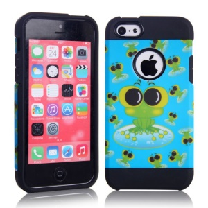 2 in 1 Cute Frogs Design PC & TPU Hybrid Phone Case for iPhone 5c