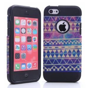 2 in 1 Violet Tribal Design PC & TPU Combo Case for iPhone 5c