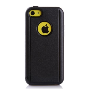 Shockproof Drop-resistant PC + TPU Hybrid Case Cover for iPhone 5c - Black
