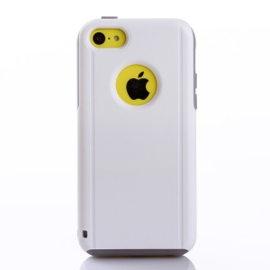 Shockproof Drop-resistant PC + TPU Hybrid Case for iPhone 5c - Grey / White