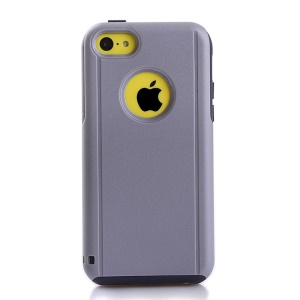 Shockproof Drop-resistant for iPhone 5c PC + TPU Shield Cover - Black / Grey