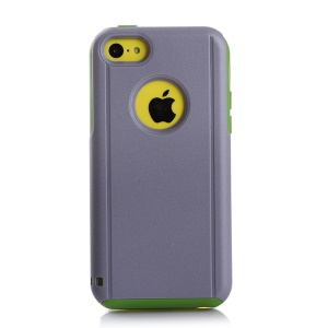 Shockproof Drop-resistant for iPhone 5c PC + TPU Shield Shell - Green / Grey