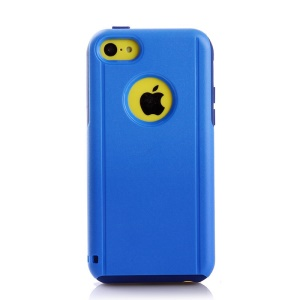 For iPhone 5c Shockproof Drop-resistant PC + TPU Shield Case - Dark Blue / Blue