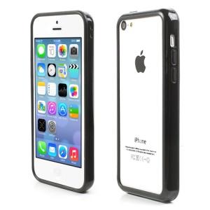 Black Plastic & TPU Hybrid Bumper for iPhone 5C