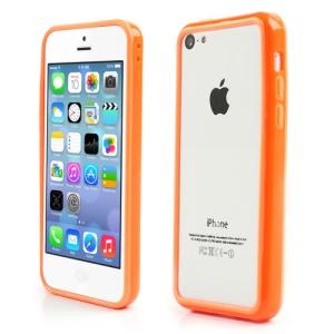 Orange for iPhone 5C Plastic & TPU Hybrid Bumper