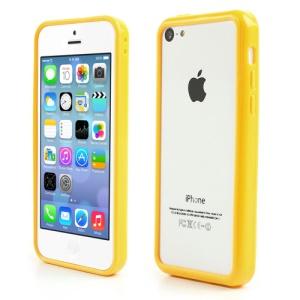 Yellow for iPhone 5C Plastic & TPU Hybrid Bumper