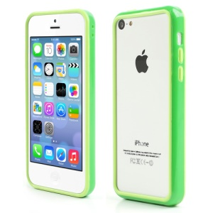 Green for iPhone 5C Plastic & TPU Hybrid Bumper