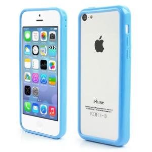 Light Blue for iPhone 5C Plastic & TPU Hybrid Bumper Case