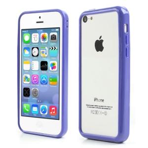 Dark Blue for iPhone 5C Plastic & TPU Hybrid Bumper Case