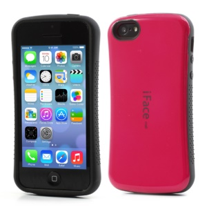 Rose iFace PC & TPU Dual Layer Hybrid Case for iPhone 5C