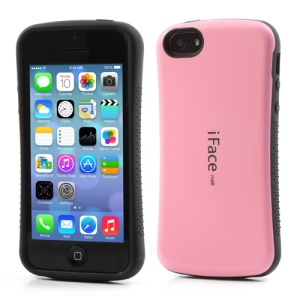 Pink iFace for iPhone 5C PC & TPU Dual Layer Hybrid Shell