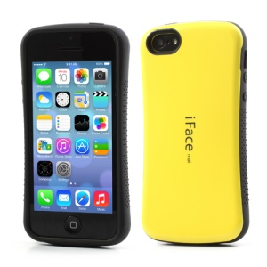 Yellow iFace for iPhone 5C PC & TPU Dual Layer Hybrid Shell