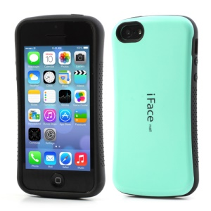 Cyan iFace for iPhone 5C PC & TPU Dual Layer Hybrid Case