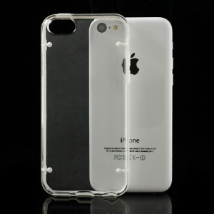 White for iPhone 5c Noctilucent Glossy Transparent PC & TPU Hybrid Case